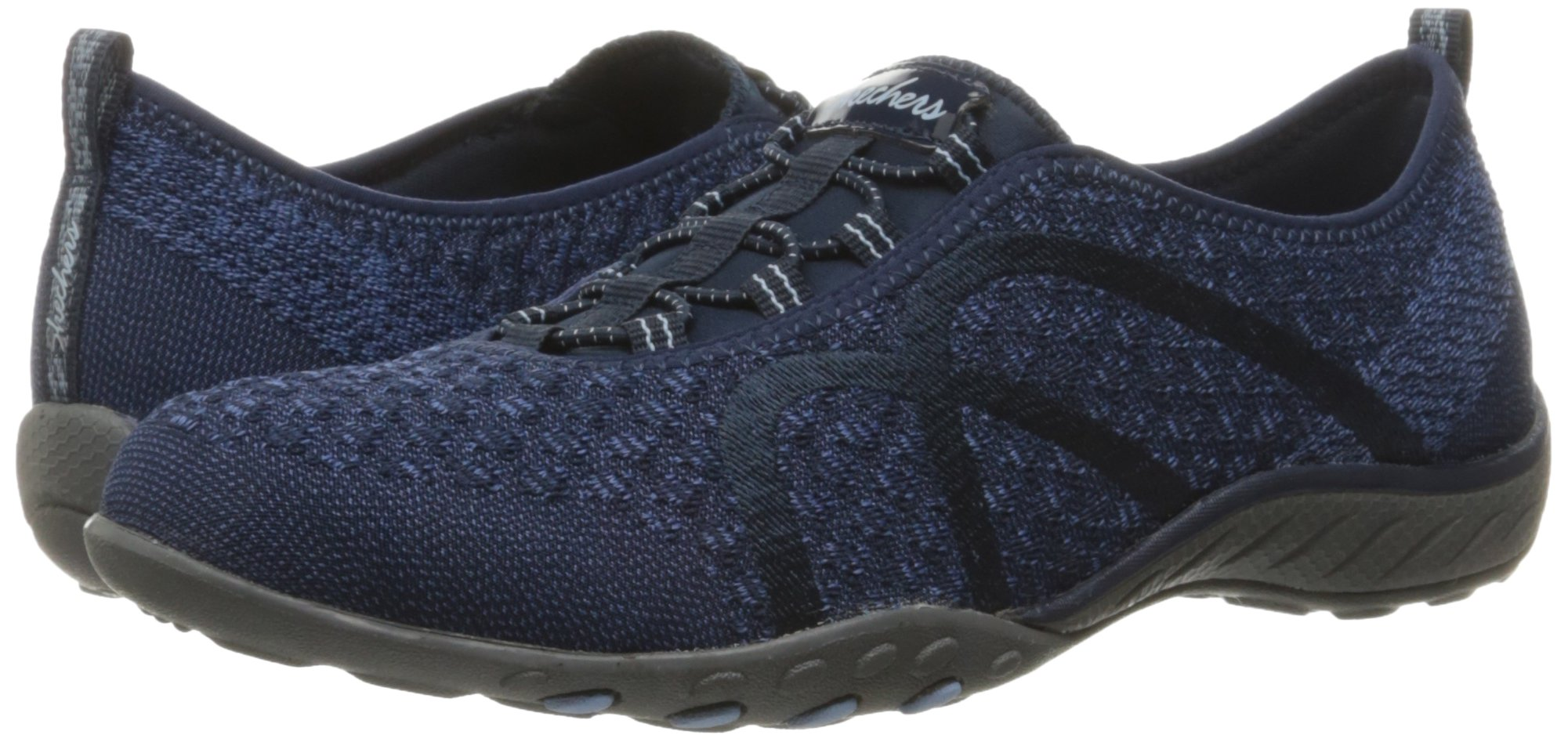Skechers Sport Women's Breathe Easy Fortune Fashion Sneaker,Navy Knit,5.5 M US by Skechers (Image #6)