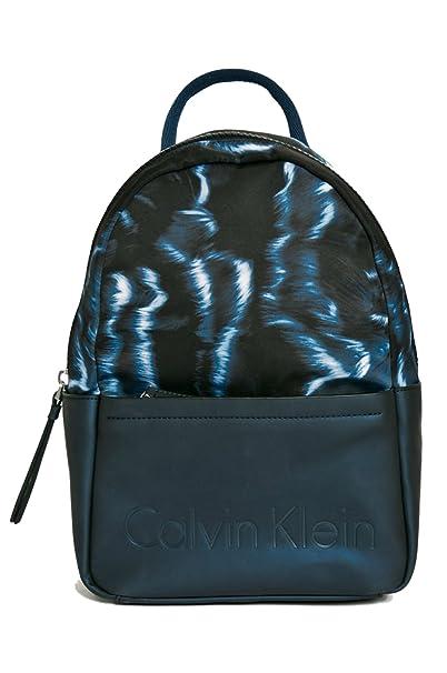 AzulAmazon Mujer Klein es Backpack Print Calvin Mochila Susi3 SpMVqUz