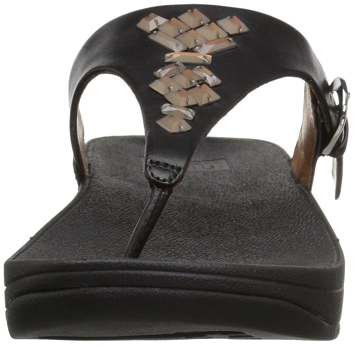 6ddaf5e30 Fitflop Women s s Skinny Tm Toe-Thong Sandals Crystal Flip Flops   Amazon.co.uk  Shoes   Bags