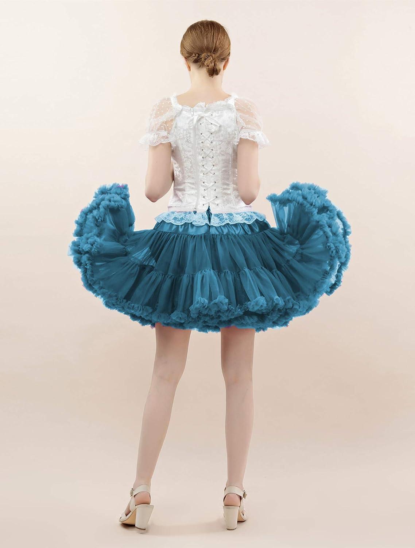 FOLOBE Tutu Costume Donna Balletto Danza Multistrato Gonna Gonfiabile per Adulto Lussuoso Sottoveste Morbido