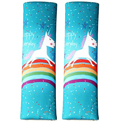 Fabulous Pengxiaomei 2 Pcs Unicorn Seat Belt Pads Soft Seat Belt Cover Car Safety Seat Belt Shoulder Pad For Child Kids Toddlers Baby Creativecarmelina Interior Chair Design Creativecarmelinacom