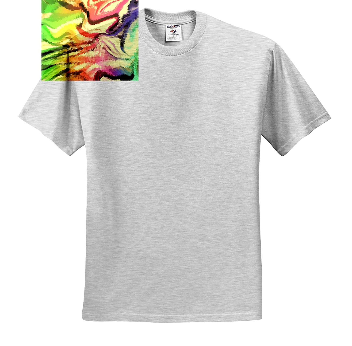 3dRose Lens Art by Florene Digital Painting T-Shirts Image of Abstract Lime Purple and Yellow Painting