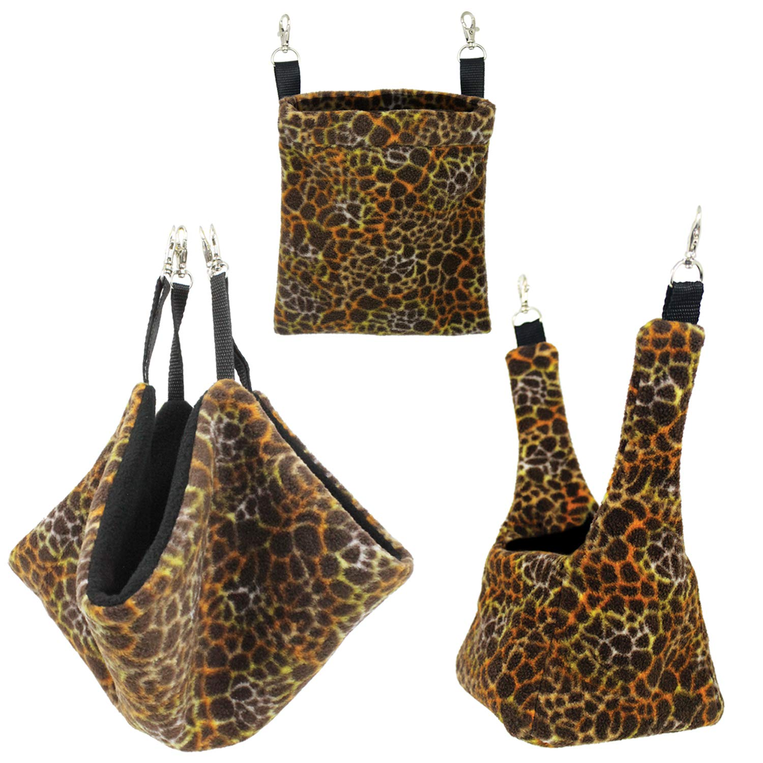 Exotic Nutrition Giraffe Pouch Set - Hammocks and Bedding for Sugar Gliders, Chinchillas, Rats, Ferrets, Rabbits, Hamsters, Squirrels, Parrots, Birds by Exotic Nutrition