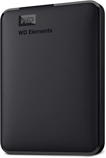 WD 2TB Elements Portable External Hard Drive HDD, USB 3.0, Compatible with PC, Mac, PS4 & Xbox - WDBU6Y0020BBK-WESN