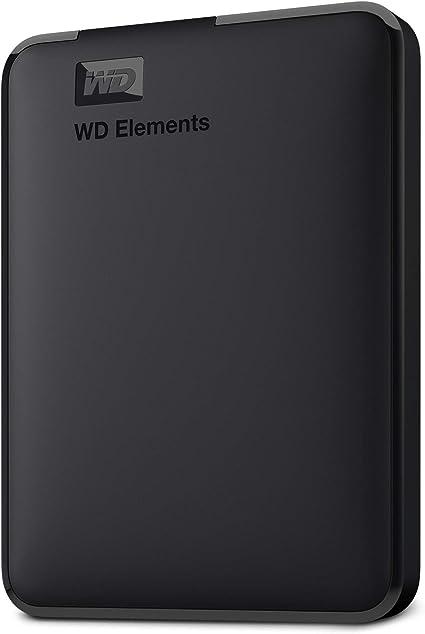 Western Digital 2TB Elements Portable External Hard Drive USB 3.0 WDBU6Y0020BBK-WESN Bundle with Basics External Hard Drive Portable Carrying Case
