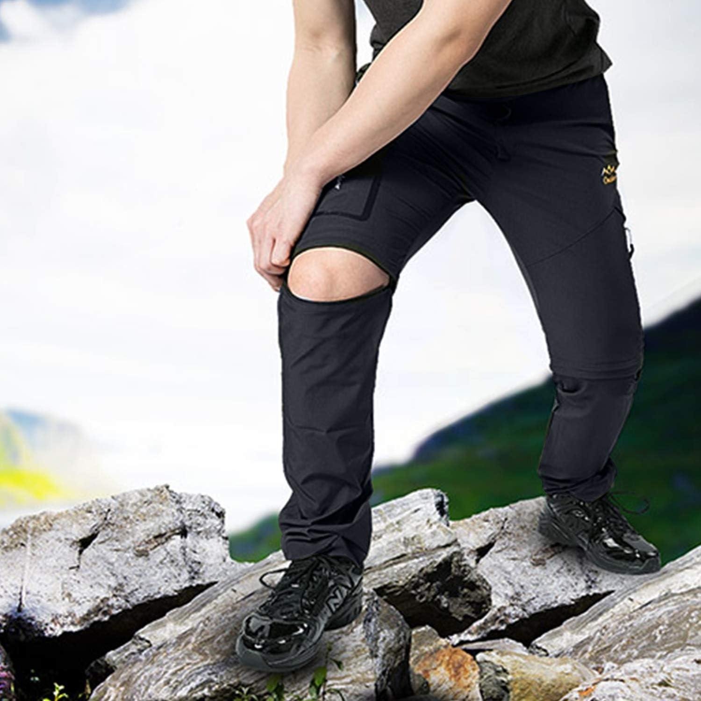 BWBIKE Herren Wanderhose Schnell Trockene Laufhose Outdoor Cabrio Hose Mit G/ürtel Zum Klettern Camping