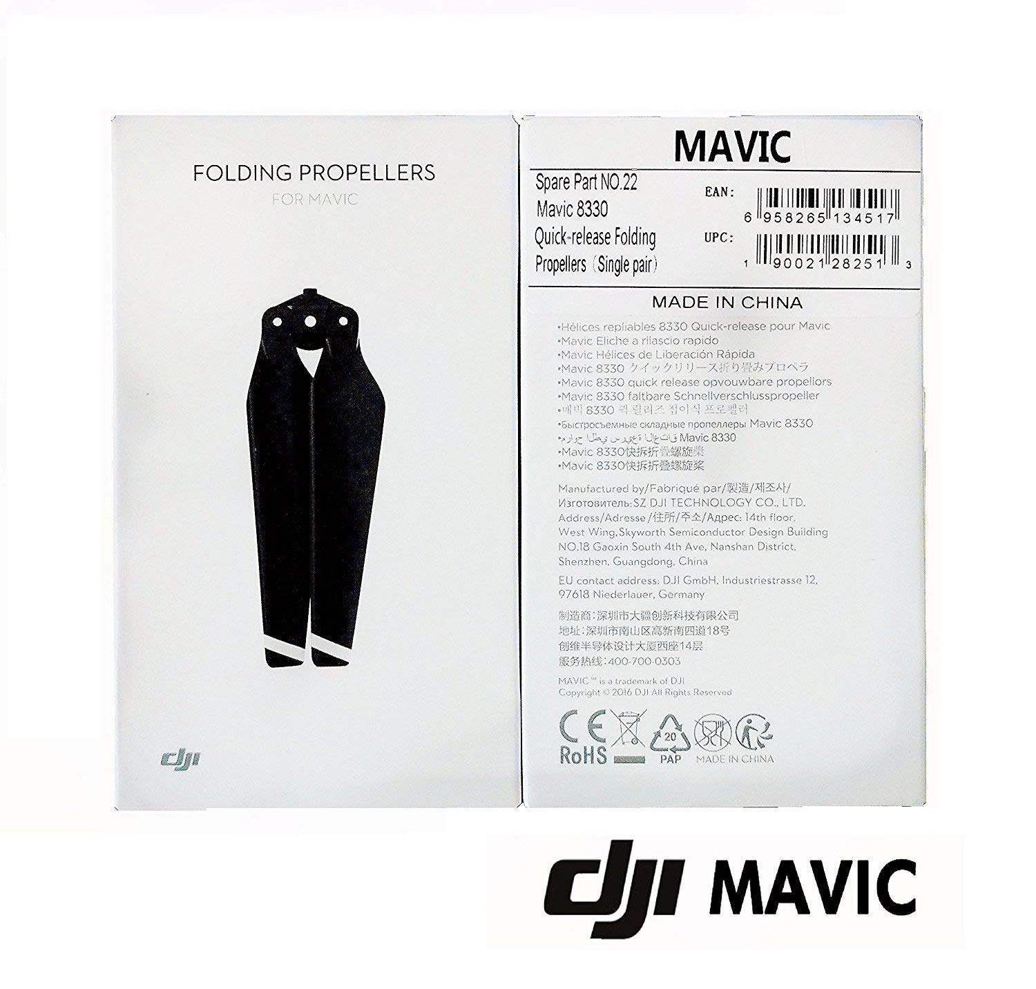 2 Sets Of Dji 8330 Quick Release Folding Propellers For Mavic Drone Cppt000578 Edigitalusa Microfiber Cleaning Cloth Electronics