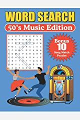 Word Search 50's Music Edition: Large Print Word Find Puzzles Paperback