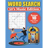 Word Search 50's Music Edition: Large Print Word Find Puzzles