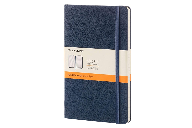 Moleskine Cuaderno Grande Azul Con Paginas Rayadas, (xmp)