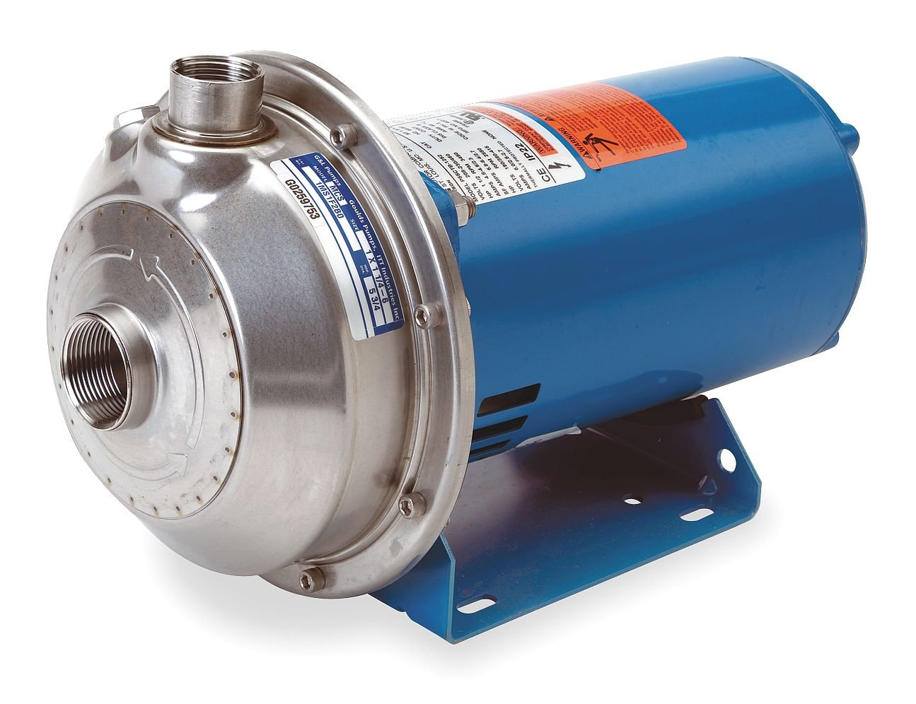 ANSI 316L Stainless Steel Housing Material GOULDS WATER TECHNOLOGY 2MS1E5E4 208-230//460 Voltage 3 Phase 1 HP Centrifugal Pump