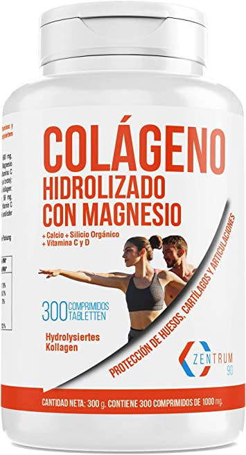 Colágeno hidrolizado con calcio para huesos y articulaciones – Colágeno con vitamina C y vitamina D para ayudar a la energía del día a día (300): Amazon.es: Salud y cuidado personal