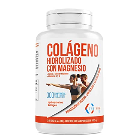 Colágeno hidrolizado con calcio para huesos y articulaciones – Colágeno con vitamina C y vitamina D para ayudar a la energía del día a día (300)