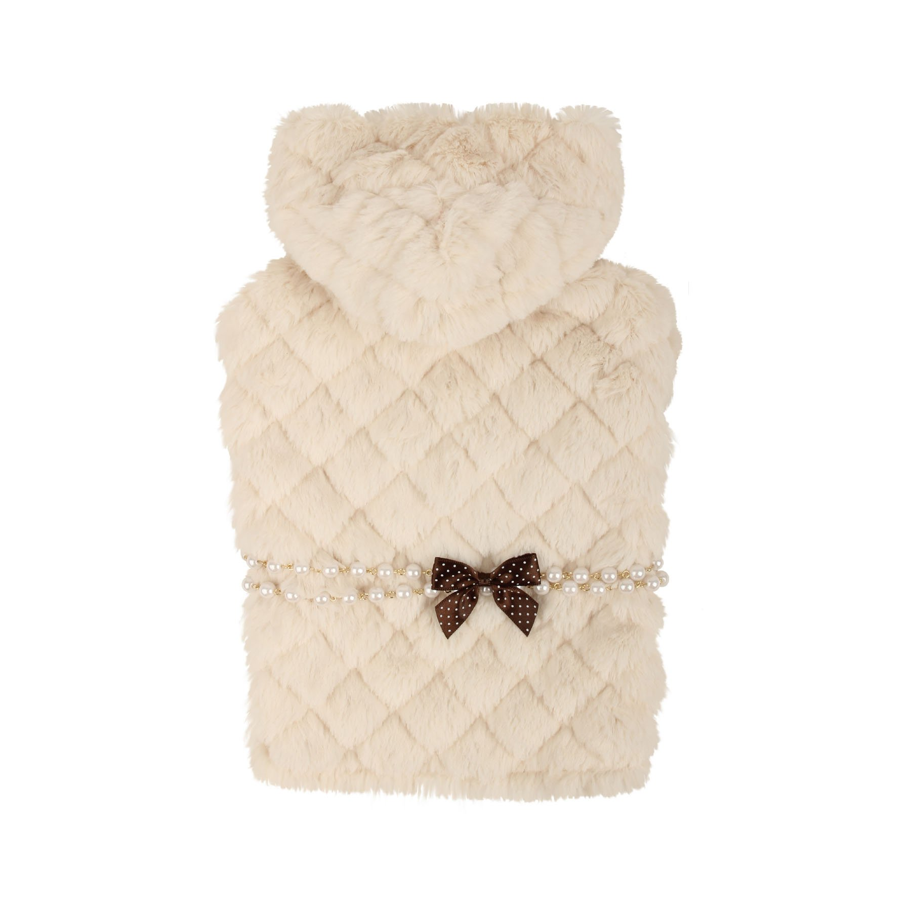 Pinkaholic New York Faux Fur Hooded Pet Arctic Cape, Large, Ivory by Pinkaholic New York