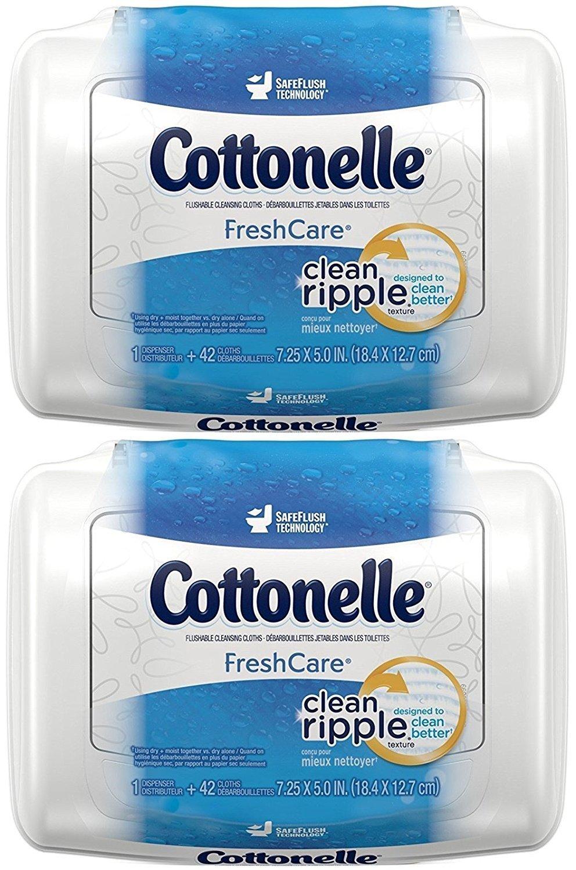 Cottonelle Fresh Care Flushable Moist Wipes Tub, 42Ct, 2Pk Alere KC-815B