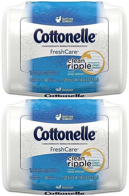 Atención Cottonelle Fresh Flushable húmedo toallitas de limpieza para, 42 hilos KC-815B,