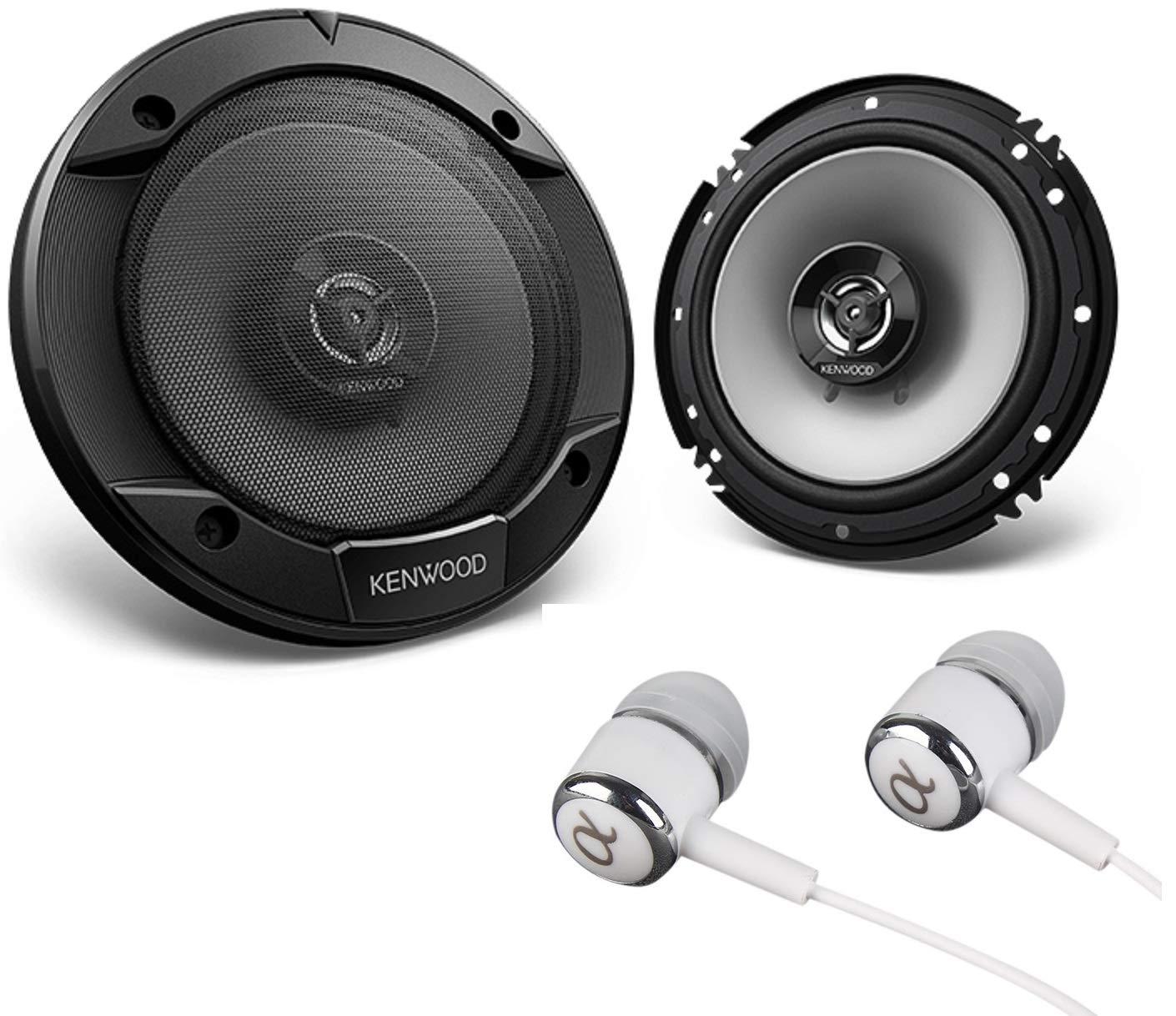 Kenwood KFC-1666S 6-1//2 600W Max FREE ALPHASONIK EARBUDS 6.5 KFC 2-Way Sport Series Flush Mount Car Audio Door Coaxial Speakers 60W RMS