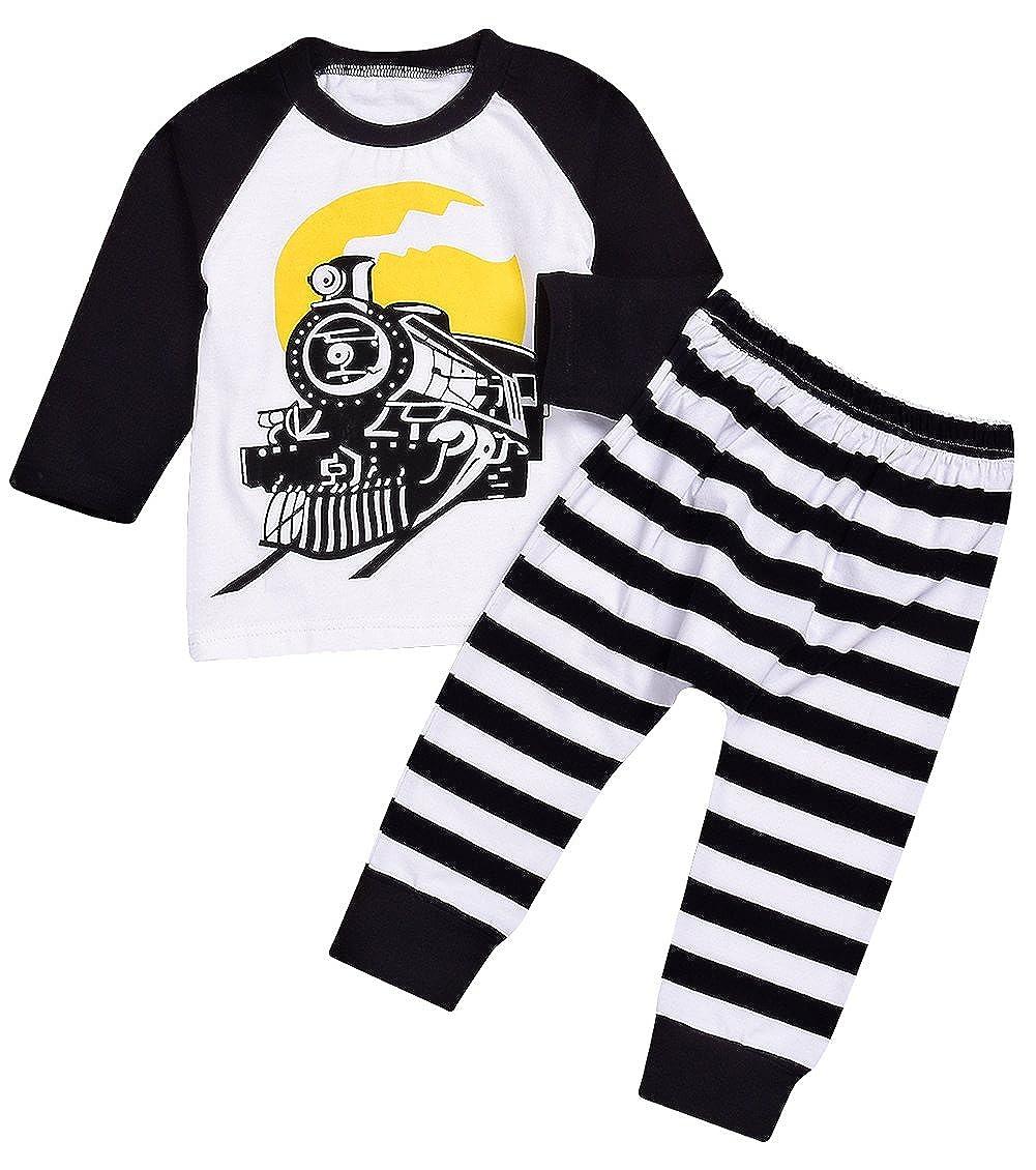 76fb6e5644e4 Amazon.com  Younger star Little Boys Car Pajamas 100% Cotton ...
