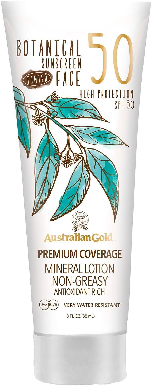 Australian Gold Botanical Spf50 Tinted Face Lotion 89 ml 890 g ...