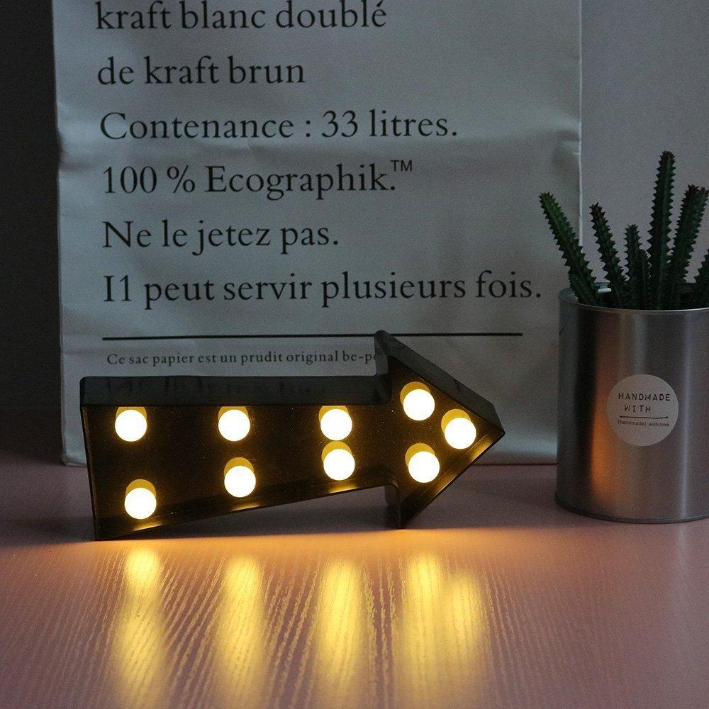 Missley Los LED indican la luz de la noche de la flecha Los peque/ños de la noche de la luz del beb/é para la sala de estar del dormitorio