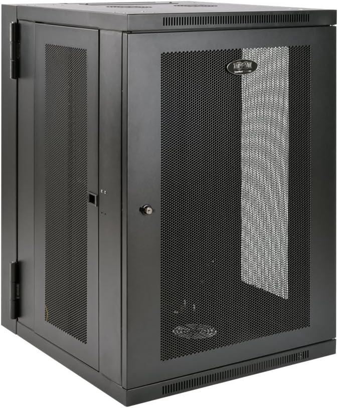 Tripp Lite 18U Wall Mount Rack Enclosure Server Cabinet, Hinged Back, 24.5 in. Deep, UPS-Depth (SRW18USDP),Black
