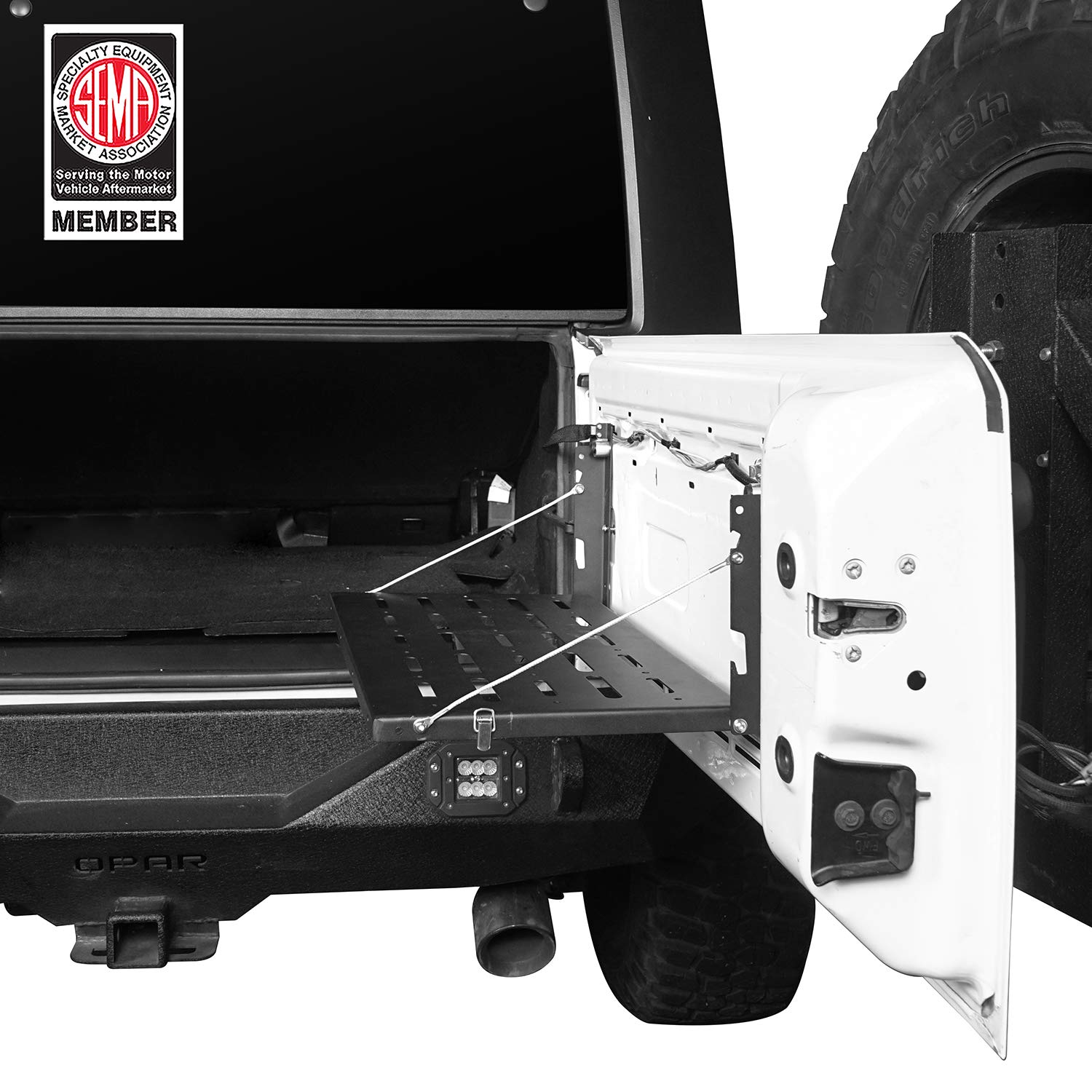 u-Box Jeep Wrangler JK 07-18 Tailgate Table Foldable Cargo Shelf