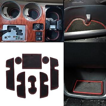 Accesorios de ajuste personalizado para portavasos y forro de puerta para T oyota Highlander 2009 a