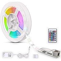 B.K.Licht LED Strip 3m, siliconencoating, RGB, afstandsbediening, zelfklevend, kleurverandering, verkortbaar, LED…