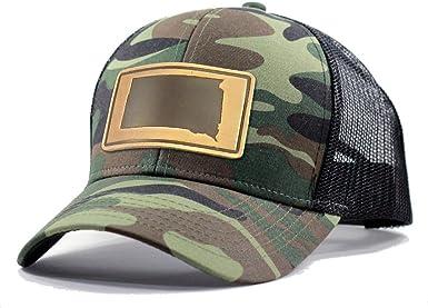 Homeland Tees Mens South Dakota Leather Patch Trucker Hat