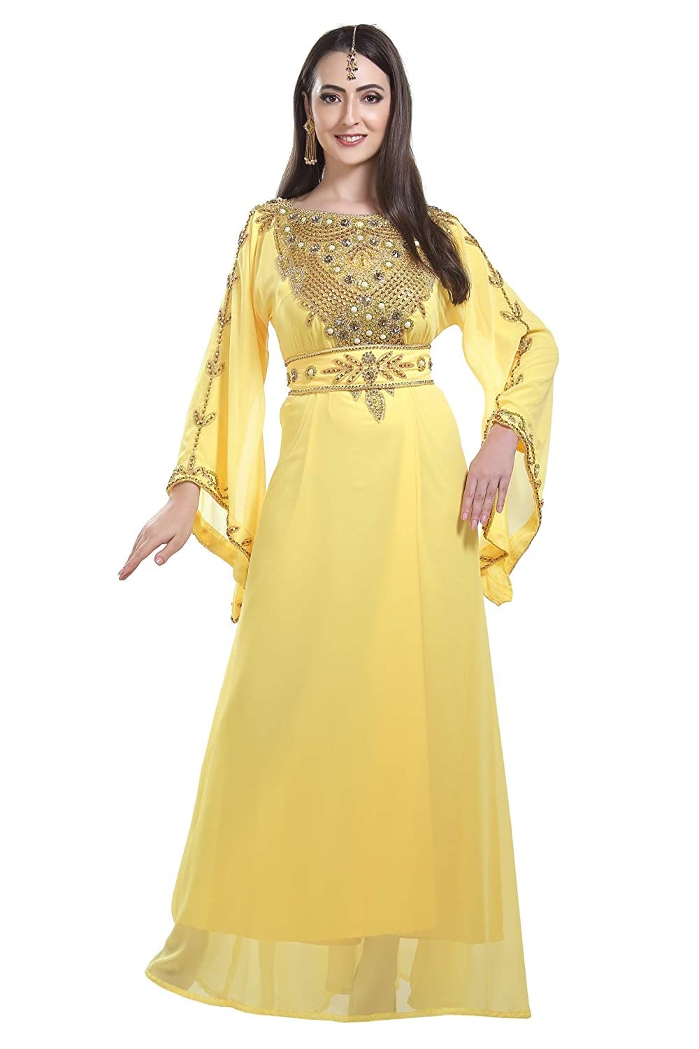 e5c4c9fadc57 Evening Wear Home Gown Nighty Caftan Dress Full Length Maxi for Ladies 7199  at Amazon Women s Clothing store