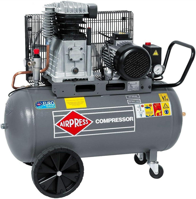 Airpress Druckluft Kompressor Hk 600 90 4 Ps 3 Kw 10 Bar 90 Liter Kessel Kolben Kompressor 400 V Hk 600 90 Baumarkt