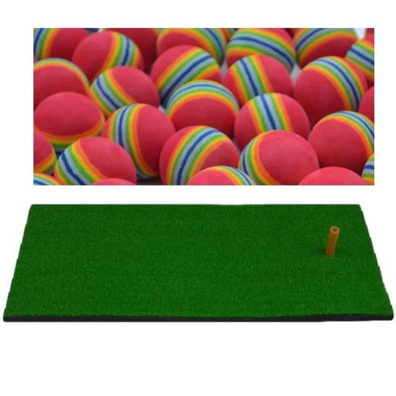 召喚する引退したひいきにするZAFIELD ゴルフ 練習マット スイング マット フェアウェイ フルショット ラフ 練習用 60×30cm