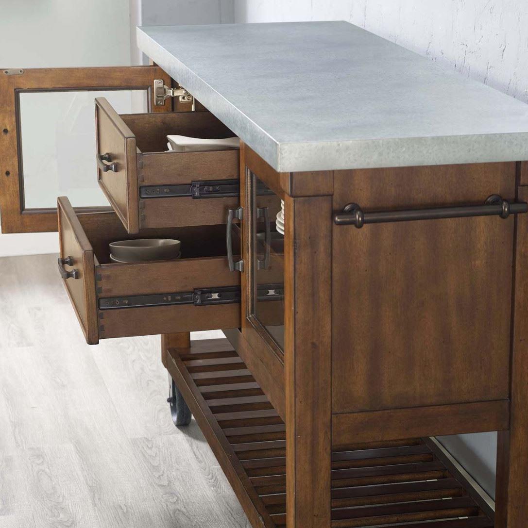 Amazon.de: Bayside Innendekoration Küche Insel mit Metall ...