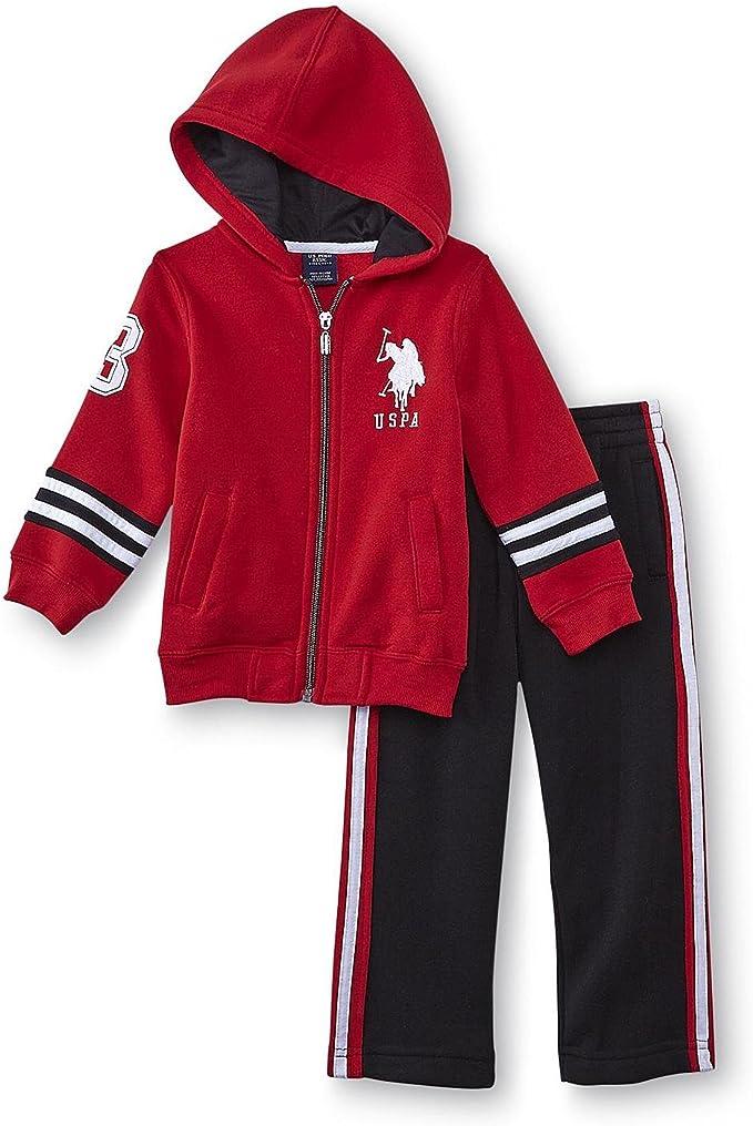 US Polo Assn de chándal para niños Outfit Chaqueta con capucha + ...