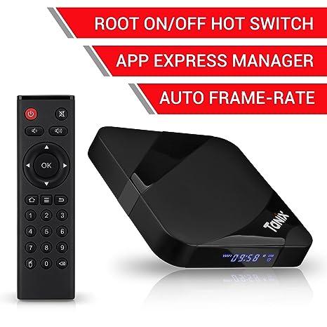 TaNix Android TV Box, 2018 Newest TX3 MAX Android 7 1 2 4K 3D H 265 TV Box  with BT 4 0 / Amlogic Quad-Core S905W 64 Bits CPU / 2GB RAM 16GB ROM