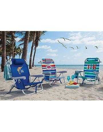 Tommy Bahama Silla de Playa Tipo Mochila Reclinan 5 Posiciones
