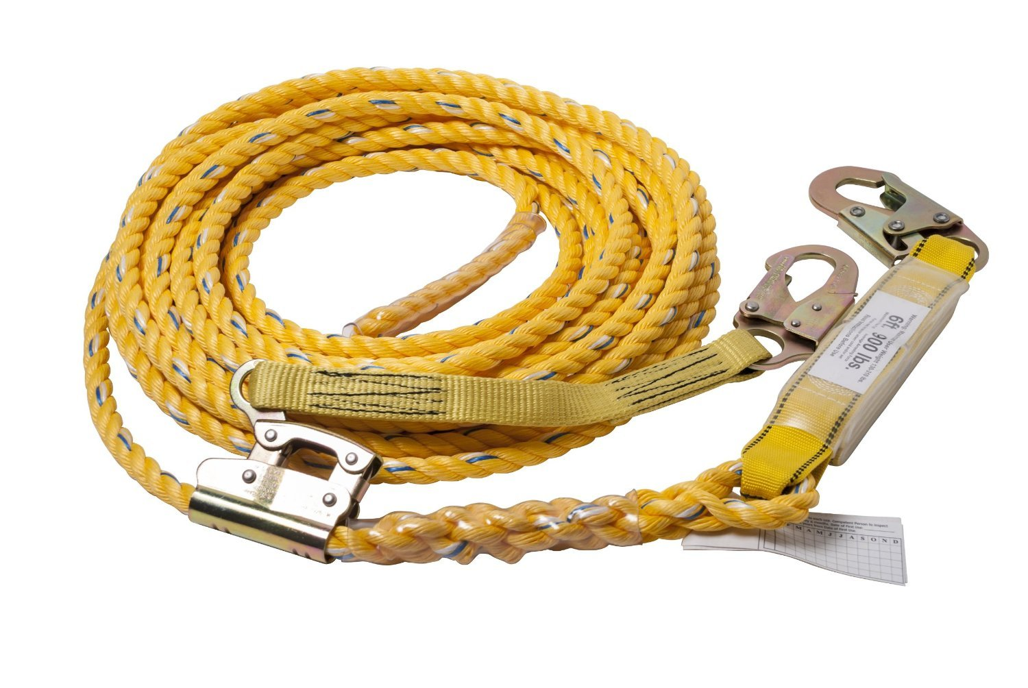 Guardian Fall Protection 01320 VLA-50 Poly Steel Vertical Lifeline Assembly, 50-Foot by Guardian Fall Protection