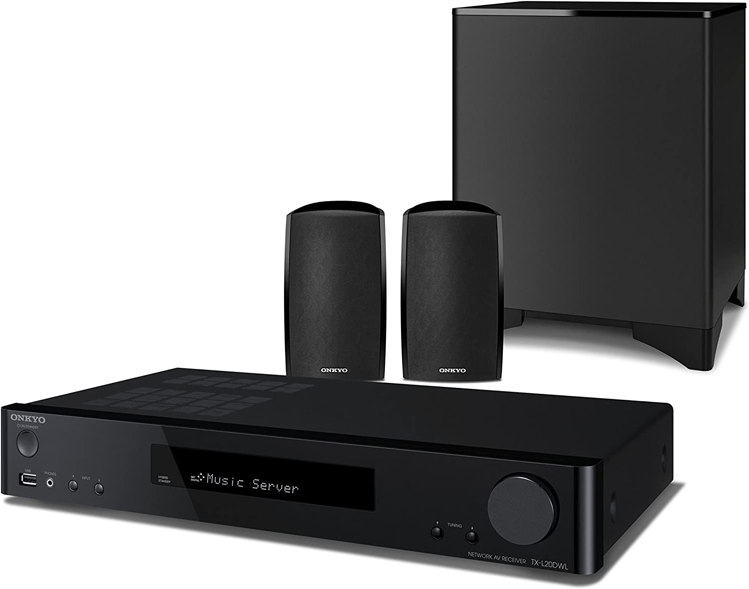 Onkyo LS5200-B - Conjunto de Altavoces, Network y subwoofer 2.1 (WiFi, Bluetooth, AirPlay, Chromecast, FireConnect, spotify, Deezer, Tidal , Tuneln, HDMI 4/1) Color Negro