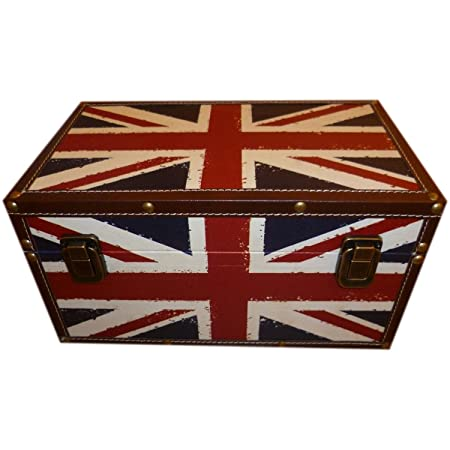 a5668dfcd3 Large Union Jack Design Storage Trunk H31cm x L59cm x Dep35cm:  Amazon.co.uk: Kitchen & Home