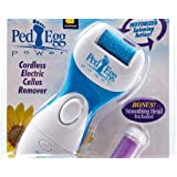 Ped Egg Power Cordless Electric Callus Remover AS SEEN on TV PedEgg (Bonus smoothing Head Included )