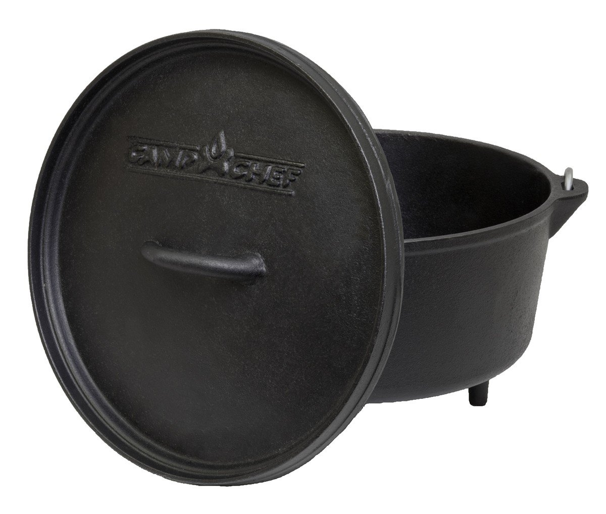 Camp Chef Classic 10-Inch Deep Prong Horn Tru Seasoned Cast Iron Dutch Oven
