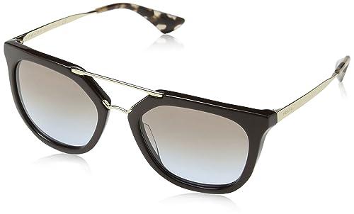 528b5f78ca98 Prada Cinema Metal Brow Sunglasses in Black Grey Gradient PR 13QS 1AB0A7  54: Amazon.ca: Shoes & Handbags