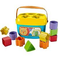 Fisher-Price FFC84 Babys Erste Bausteine Formensortierspiel mit Spielwürfeln und Eimer zum Verstauen, ab 6 Monaten