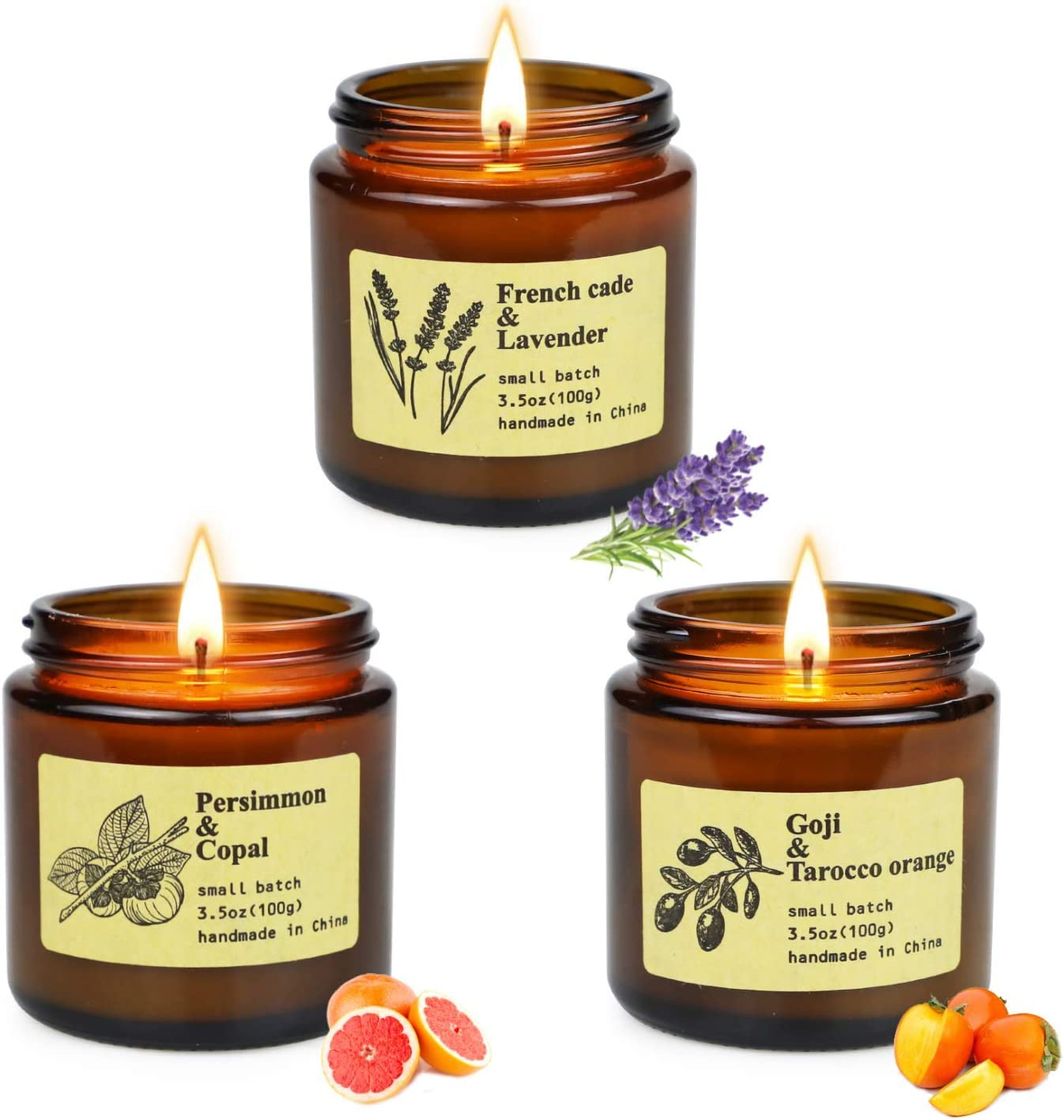 Scented Candles Gifts for Women Natural Soy Wax Essentail Oil Relaxing Home Decoration for Christmas Mothers Day Two Candle Gift Sets-Amber Set /& Classic Set Thanksgiving Day Halloween 7 Packs
