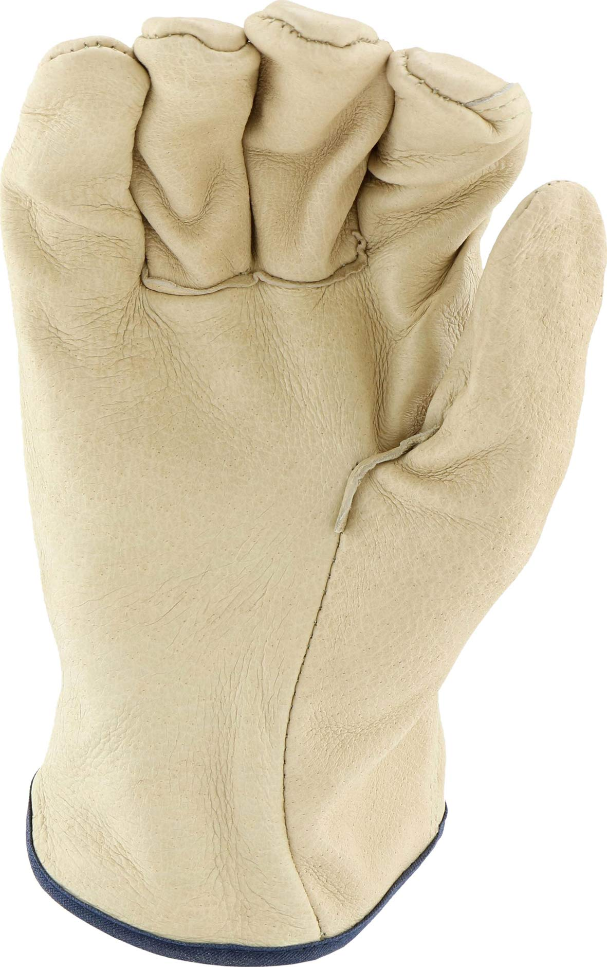 West Chester 994 Select Grain Pigskin Leather Driver Work Gloves: Straight Thumb, Large, 12 Pairs by West Chester (Image #6)