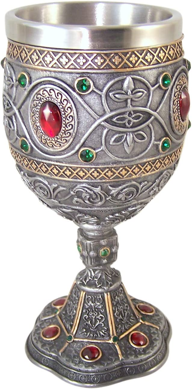 Rhinestone Jeweled Holy Grail Chalice, 6 1/2 Inch