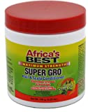 Africa's Best Super Gro Maximum Hair and Scalp Conditioner, 5.25 Ounce