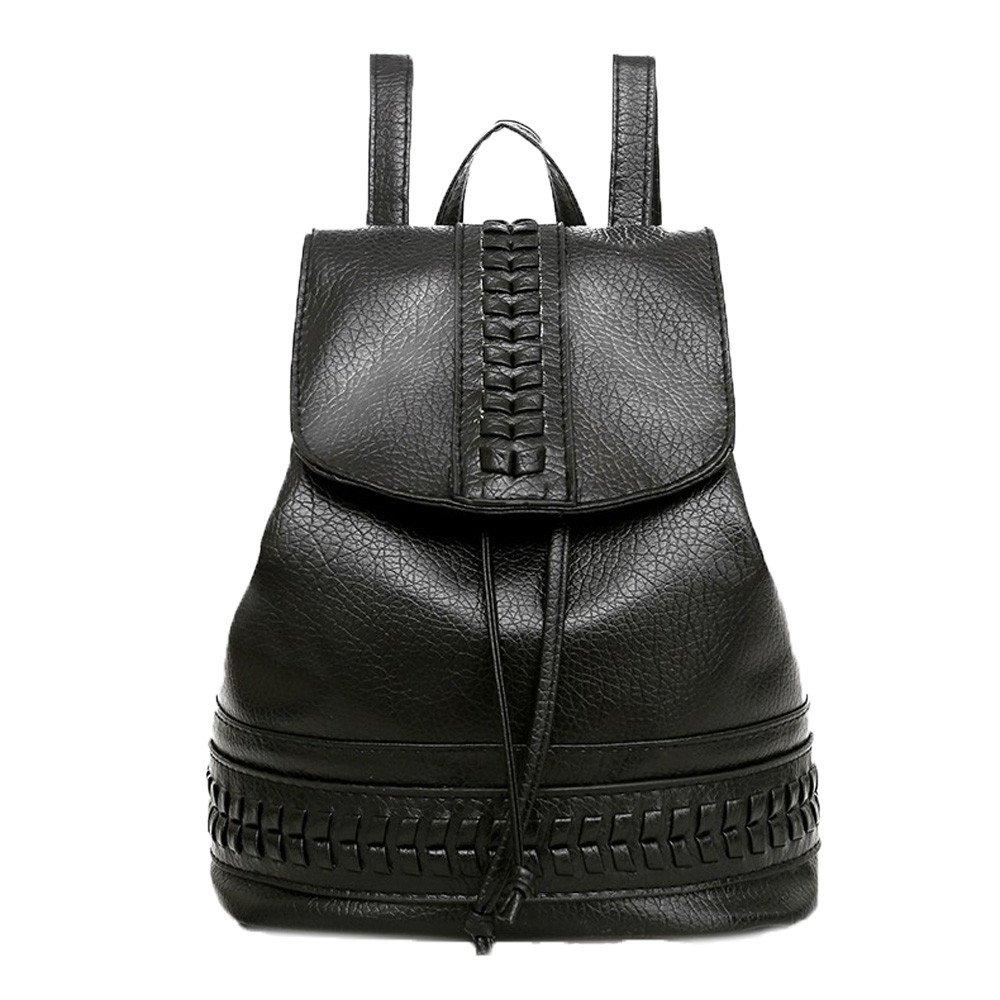 Bolsos Mochilas Tipo Casual de Viaje y Escuela de Cuero para Mujeres y Chicas Paquete de Diario y Ocio Messenger Bag Backpack de Moda Bolsos de Cubo: ...