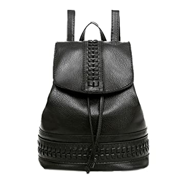 Bolsos Mochilas Tipo Casual de Viaje y Escuela de Cuero para Mujeres y Chicas Paquete de Diario y Ocio Messenger Bag Backpack de Moda Bolsos de Cubo