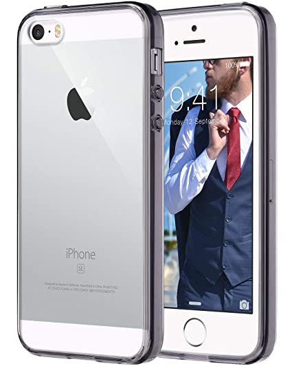 outlet store 6df8f d6cc5 ULAK iPhone SE Case Clear, iPhone 5s case, iPhone 5 case, Clear Slim Fit  5/5S/SE Case with Transparent Flexible Soft TPU Bumper Shock-Absorption  Cover ...
